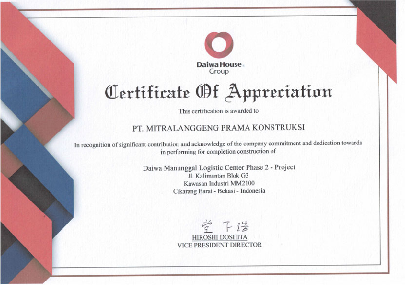 Mitra Konstruksi Certification